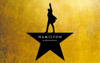 Alexander Hamilton's silhouette appears about a star shape.