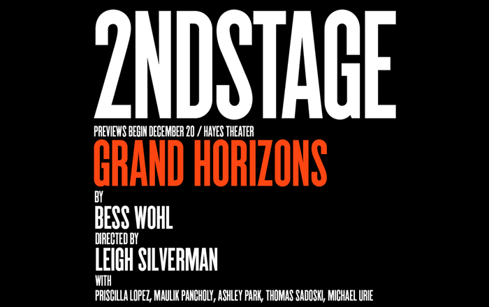 2nd Stage presents Grand Horizons. Previews begin December 20th.
