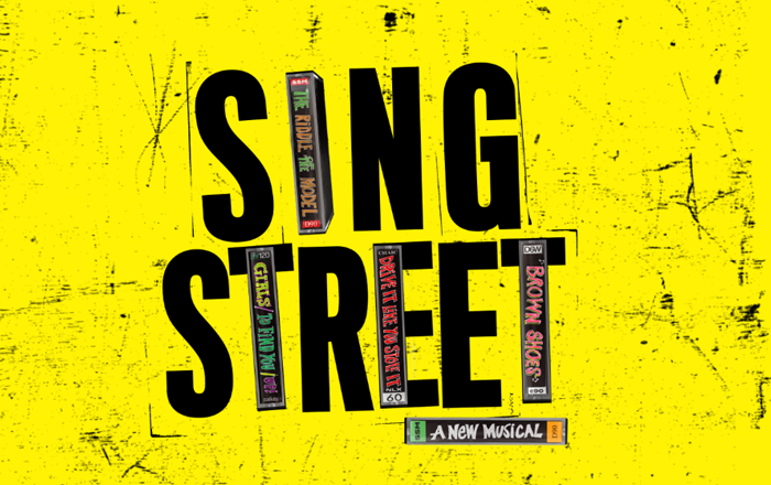 Sing Street's logo incorporates cassette tape cases into the lettering.